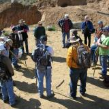 Safety meeting on site before digging led by Paul Geffner. (Author: Tony L. Potucek)
