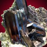 Azurita<br />Mina Tsumeb, Tsumeb, Región Otjikoto, Namibia<br />9x8cm, cristales hasta 5cm<br /> (Autor: Raul Vancouver)