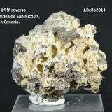 Clinoptilolita<br />Barranco de Tocodoman, La Aldea de San Nicolás, Gran Canaria, Provincia de Las Palmas, Canarias, España<br />5 x 5 cm.<br /> (Autor: Jose Bello)