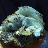 Baritina<br />Minas Jebel Ouichane, Beni Bou Ifrour, Nador, Provincia Nador, Región Oriental, Marruecos<br />12x12 cm<br /> (Autor: jaume.vilalta)