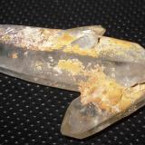 Cuarzo<br />Concesión Minera Leymon, Villanueva de la Sierra, Pías, Zamora, Castilla y León, España<br />42 x 12 mm cristal mayor<br /> (Autor: phrancko)