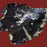Azurite<br />Tsumeb Mine, Easter Pocket, Tsumeb, Otjikoto Region, Namibia<br />84 x 72 x 28 mm<br /> (Author: GneissWare)
