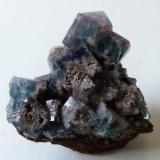 Fluorite<br />Hollywell Mine, Frosterley, Weardale, North Pennines Orefield, County Durham, England, United Kingdom<br />6 x 5.5 x 3.5cm<br /> (Author: captaincaveman)