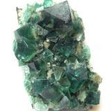 Fluorite<br />Rogerley Mine, Frosterley, Weardale, North Pennines Orefield, County Durham, England, United Kingdom<br />Specimen size 9 cm, largest crystal 2 cm<br /> (Author: Tobi)