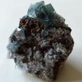 Fluorite (green)<br />Blue Circle Cement Quarry, Eastgate, Weardale, North Pennines Orefield, County Durham, England, United Kingdom<br />4.5x4x3cm<br /> (Author: captaincaveman)