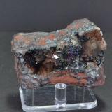 Hematite (var. specularite) and Quartz<br />New Parkside Mines, Frizington, West Cumberland Iron Field, former Cumberland, Cumbria, England, United Kingdom<br />5.5 x 3.0 cm<br /> (Author: captaincaveman)
