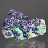 Azurite, Malachite Bisbee, Arizona, USA 4.0 x 3.0 cm  (Author: Don Lum)
