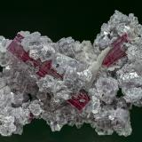 Elbaite, Lepidolite, Albite Jonas Mine, Conselheiro Pena, Doce valley, Minas Gerais, Brazil 8.4 x 5.8 cm (Author: am mizunaka)