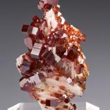 Vanadinite, barite Mibladen Mining District, Midelt, Khénifra Province, Meknès-Tafilalet Region, Morocco 70 mm x 40 mm x 34 mm (Author: Carles Millan)