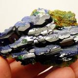 Azurite and malachite Tsumeb, Namibia 74 x 43 x 27 mm Same as above. (Author: Pierre Joubert)
