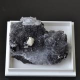 Sphalerite, galena and ankerite on quartz Nentsberry Haggs Mine, Alston Moor, Cumbria, England, UK 3 x 4 cm (Author: captaincaveman)
