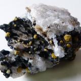 Mimetite (var. campylite) Dry Gill Mine, Caldbeck Fells, Cumbria, England, UK 5.5 x 4.5 x 3.5cm   94g (Author: captaincaveman)