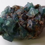 Fluorite<br />Rogerley Mine, Frosterley, Weardale, North Pennines Orefield, County Durham, England, United Kingdom<br />9.5 x 7 x 3.5cm.<br /> (Author: captaincaveman)