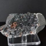 QUARTZ on SPECULARITE<br />Florence Mine, Egremont, West Cumberland Iron Field, former Cumberland, Cumbria, England, United Kingdom<br />7.5x3.0x4.0 cm<br /> (Author: captaincaveman)