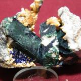 Azurite/Malachite<br />Tsumeb Mine, Tsumeb, Otjikoto Region, Namibia<br />70x50mm<br /> (Author: Heimo Hellwig)
