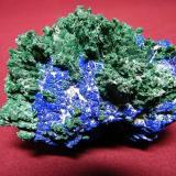 Azurite/Malachite<br />Tsumeb Mine, Tsumeb, Otjikoto Region, Namibia<br />80x60mm<br /> (Author: Heimo Hellwig)