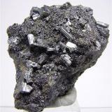 Bournonite<br />Shaft 6, Baia Sprie, Maramures, Romania<br />H:5.5cmxW:4cmxD:2.5cm; Largest Crystal: 0.8 cm<br /> (Author: Adrian Pripoae)