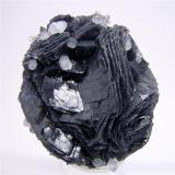 Calcite & Quartz<br />Herja Mine, Chiuzbaia, Baia Sprie, Maramures, Romania<br />H:6.5 cm x W:5.5 cm x D:5 cm<br /> (Author: Adrian Pripoae)