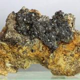 Esfalerita (Variedad marmatita)<br />Portmán, La Unión, Comarca Campo de Cartagena, Murcia, Región de Murcia, España<br />80x55x20 mm<br /> (Autor: Juan Espino)