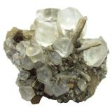 Fluorite with quartz<br />Dalnegorsk, Kavalerovo Mining District, Primorskiy Kray, Far-Eastern Region, Russia<br />Specimen size 8 cm, largest fluorite 2 cm<br /> (Author: Tobi)