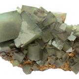 Fluorite<br />Huangshaping Mine, Guiyang, Chenzhou Prefecture, Hunan Province, China<br />Specimen size 12 cm, largest fluorite 3 cm<br /> (Author: Tobi)