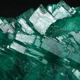 Beryl (var. emerald)<br />Coscuez mining district, Municipio San Pablo de Borbur, Western Emerald Belt, Boyacá Department, Colombia<br />Detail - FOV=3cm<br /> (Author: Fiebre Verde)