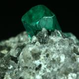Beryl (variety emerald), Calcite, Pyrite, Quartz<br />Coscuez mining district, Municipio San Pablo de Borbur, Western Emerald Belt, Boyacá Department, Colombia<br />50x20x45mm<br /> (Author: Fiebre Verde)