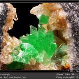 Annabergite<br />Km-3 Mine, Lavrion, Lavrion Mining District, Attikí (Attica) Prefecture, Greece<br />3.5 mm<br /> (Author: ploum)
