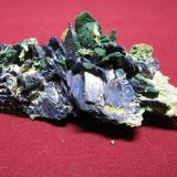 Azurite and Malachite<br />Tsumeb Mine, Tsumeb, Otjikoto Region, Namibia<br />110x50mm<br /> (Author: Heimo Hellwig)