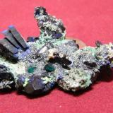 Azurite and Malachite<br />Tsumeb Mine, Tsumeb, Otjikoto Region, Namibia<br />60x40mm<br /> (Author: Heimo Hellwig)
