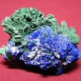 Azurite and Malachite<br />Tsumeb Mine, Tsumeb, Otjikoto Region, Namibia<br />50x50mm<br /> (Author: Heimo Hellwig)