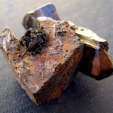 Goethita pseudo Siderita, Hematites, Chorlo<br />Monte Erongo, Usakos, Región Erongo, Namibia<br />3,5cm x 3cm<br /> (Autor: canada)