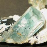 Berilo (variedad aguamarina), Chorlo y Albita<br />Monte Erongo, Usakos, Región Erongo, Namibia<br />8,5 x 6 x 4,2 cm<br /> (Autor: Juancho)