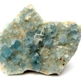 Fluorite<br />Blanchard Mine (Portales-Blanchard Mine), Bingham, Hansonburg District, Socorro County, New Mexico, USA<br />Specimen size 9 cm, largest crystal 1 cm<br /> (Author: Tobi)