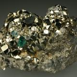 Beryl (variety emerald), Calcite, Pyrite, Dolomite<br />Chivor mining district, El Acuario Mine, Municipio Chivor, Eastern Emerald Belt, Boyacá Department, Colombia<br />60x45x55mm<br /> (Author: Fiebre Verde)