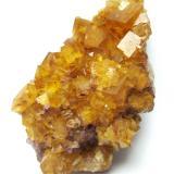 Fluorite<br />Marienschacht Mine, Wölsendorf, Schwarzach bei Nabburg, Wölsendorf West District, Upper Palatinate/Oberpfalz, Bavaria/Bayern, Germany<br />Specimen size 7 cm, garnet crystal 1 cm<br /> (Author: Tobi)