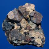 Baddeleyite, Perovskite, Anatase, Magnetite<br />Perovskite Hill, Magnet Cove, Hot Spring County, Arkansas, USA<br />5.5 x 5.0 cm<br /> (Author: Don Lum)