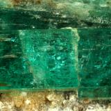 Beryl (variety emerald), Calcite, Albite<br />Kamar Safed, Bazarak District, Panjsher Province, Afghanistan<br />125x40x60mm, main xl=42mm<br /> (Author: Fiebre Verde)