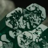Beryl (variety emerald), Calcite, Pyrite<br />Chivor mining district, Municipio Chivor, Eastern Emerald Belt, Boyacá Department, Colombia<br />42x48x20mm - Detail<br /> (Author: Fiebre Verde)