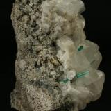 Beryl (variety emerald), Calcite, Pyrite<br />Chivor mining district, Municipio Chivor, Eastern Emerald Belt, Boyacá Department, Colombia<br />80x65x60mm<br /> (Author: Fiebre Verde)
