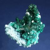 Dioptase on Shattuckite<br />Kaokoveld Plateau, Kunene Region, Namibia<br />64 x 55 x 44 mm<br /> (Author: GneissWare)