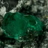 Beryl (variety emerald), Calcite, Pyrite<br />La Pita mining district, Municipio Maripí, Western Emerald Belt, Boyacá Department, Colombia<br />xl=11mm<br /> (Author: Fiebre Verde)