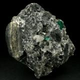 Beryl (variety emerald), Calcite, Pyrite<br />La Pita mining district, Municipio Maripí, Western Emerald Belt, Boyacá Department, Colombia<br />85x70x60mm<br /> (Author: Fiebre Verde)