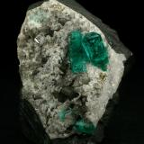 Beryl (variety emerald), Calcite, Pyrite<br />Chivor mining district, El Oriente Mine, Municipio Chivor, Eastern Emerald Belt, Boyacá Department, Colombia<br />55x35x32mm<br /> (Author: Fiebre Verde)