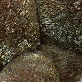 Calcita, Goethita, limonita.<br />Barranco de Las Angustias, El Paso, La Palma, Provincia de Santa Cruz de Tenerife, Canarias, España<br />2 mm. los cristales<br /> (Autor: canada)