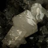 Beryl (variety emerald), Calcite, Fluorite<br />La Pita mining district, Municipio Maripí, Western Emerald Belt, Boyacá Department, Colombia<br />170x120x95mm, aggregate=50x22mm<br /> (Author: Fiebre Verde)