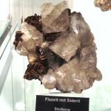 Fluorite on siderite<br />Stolberg, Mansfeld-Südharz District, Harz, Saxony-Anhalt/Sachsen-Anhalt, Germany<br />Specimen size approx. 12 cm<br /> (Author: Tobi)