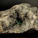 Beryl (variety emerald), Calcite, Pyrite<br />Chivor mining district, Municipio Chivor, Eastern Emerald Belt, Boyacá Department, Colombia<br />172x100x100mm, xl=18mm<br /> (Author: Fiebre Verde)