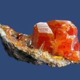 WulfeniteMina Red Cloud, Montes Trigo, Distrito Silver, Condado La Paz  , Arizona, USA49 x 24 x 20 mm (Author: GneissWare)