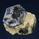 Corundum ( var. Sapphire )<br />Ilmen Natural Reserve, Ilmenskie Mountains, Chelyabinsk Oblast', Southern Urals, Urals Region, Russia<br />55 x 45 x 40 mm<br /> (Author: GneissWare)